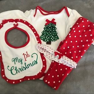Baby Girl Starting Out My First Christmas Outfit